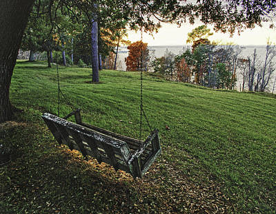 Digital Art - Bayview Swing On A August Day by Michael Thomas