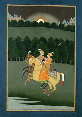 Moonlit Photograph - Baz Bahadur And Rupmati by British Library