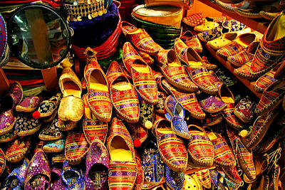 Bazaar Shoes Art Print
