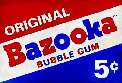 Bazooka Bubble Gum  Art Print