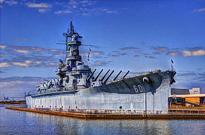 Photograph - Bb-60 Uss Alabama by Barry Jones