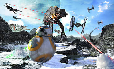Science Fiction Royalty-Free and Rights-Managed Images - Bb-8 Escaping The Empire Rath by Kurt Miller