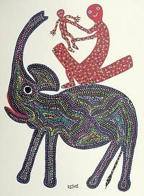 Gond Painting - Bb 94 by Bhuri Bai