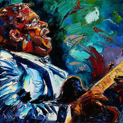 Bb King Painting - Bb King by Debra Hurd