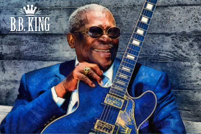 Bb King Art Print by Martin Deane