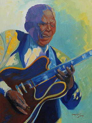 Painting - Bb King by Suzanne Cerny