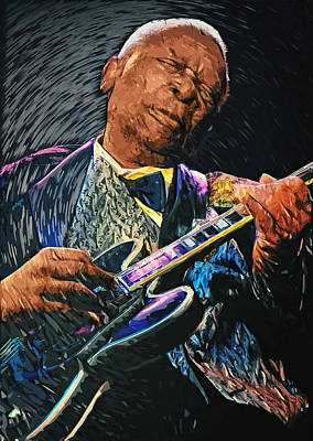 Digital Art - B.b. King by Taylan Apukovska