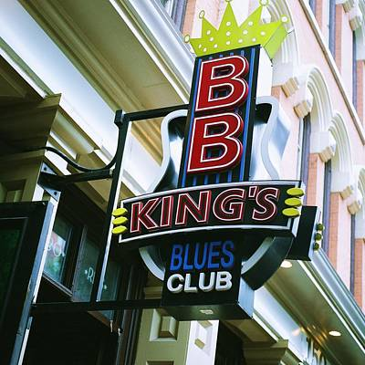 Downtown Nashville Digital Art - Bb King's Blues Club by Linda Unger