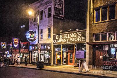 Digital Art - Bb Kings On Beale Street by Liz Leyden