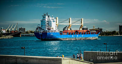 Photograph - Bbc Elbe On St Clair River by Ronald Grogan