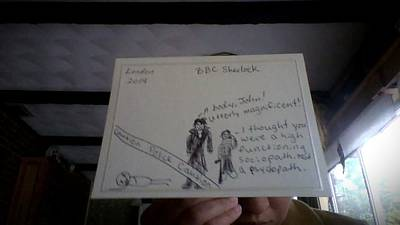 Etc. Mixed Media - Bbc Sherlock Cards by Emily Wilmoth