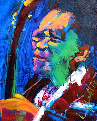 Painting - B.b.king by Les Leffingwell
