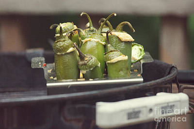 Weber Bbq Photograph - Bbq Stuffed Peppers by Kay Pickens