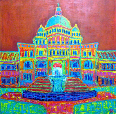 Painting - Bc Parliament by Jeremy Aiyadurai