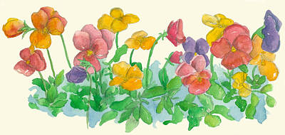 Painting - Be A Pansy by Cathie Richardson
