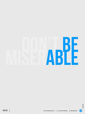Quote Digital Art - Be Able Poster by Naxart Studio