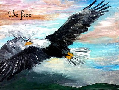 Painting - Be Free by Amanda Dinan