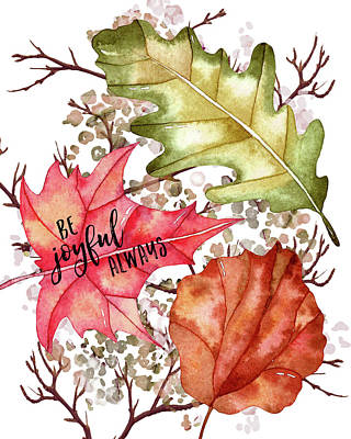 Gratitude Painting - Be Joyful Always by Amy Cummings