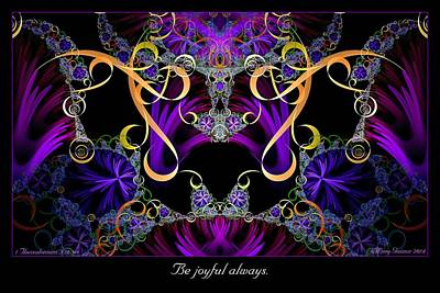 Digital Art - Be Joyful Always by Missy Gainer