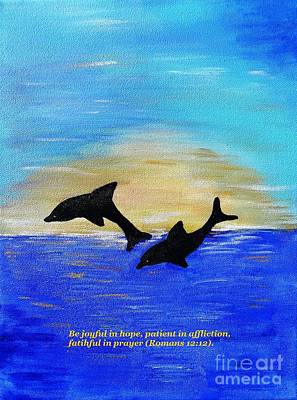 Be Joyful In Hope Art Print by Karen Jane Jones