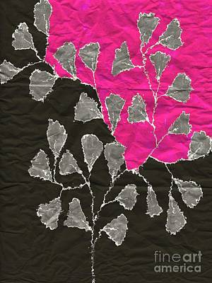Variation Digital Art - Be-leaf - Pink 03-01at4 by Variance Collections