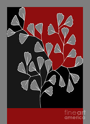 Red Leaf Digital Art - Be-leaf - Rb01btfr2 by Variance Collections