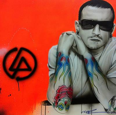 Bennington Painting - Chester Bennington - '...be More Like Me And Be Less Like You... by Christian Chapman Art