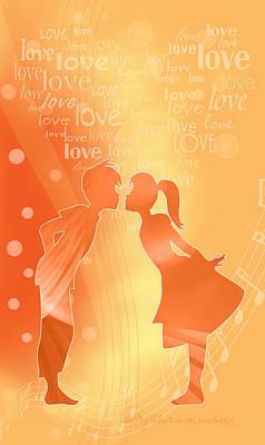 Digital Art - Be My Valentine by Gayle Odsather