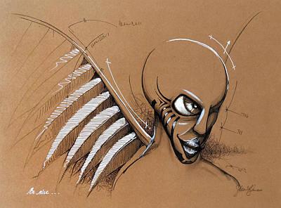 Hip Drawing - Be Nice by Steve Fogle