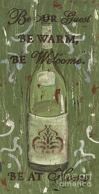 White Wine Painting - Be Our Guest by Debbie DeWitt