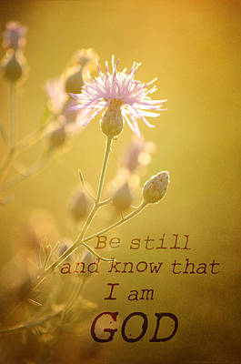 Photograph - Be Still And Know by Jenn Bowers