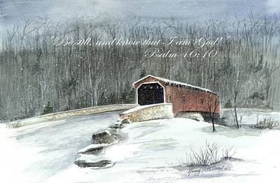 Painting - Be Still By The Bridge  by Nancy Patterson