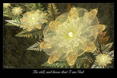 Digital Art - Be Still by Missy Gainer