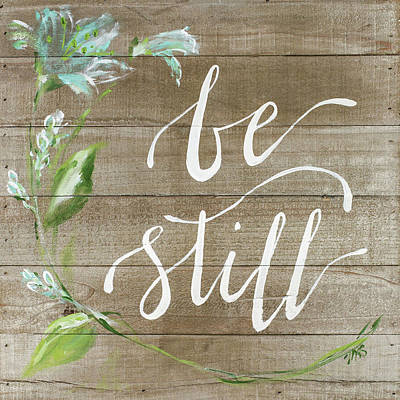 Reclaimed Wood Wall Art - Painting - Be Still by Molly Susan Strong