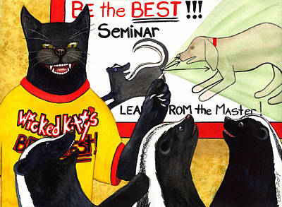 Wicked Kitty Painting - Be The Best by Catherine G McElroy