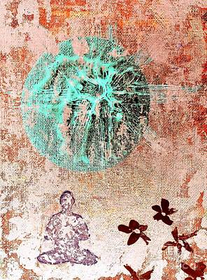 Art Print featuring the painting Be The Buddha by Jacqueline McReynolds