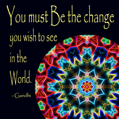 Photograph - Be The Change Mandala by Beth Sawickie