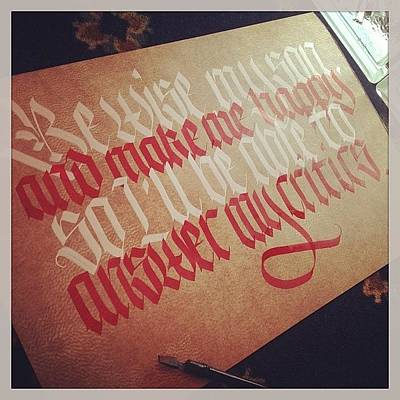 Freestyle Photograph - Be Wise My Son...#calligraphy by Leonardo Velazquez