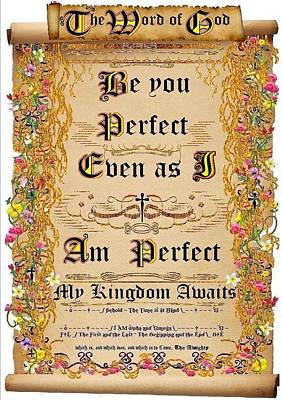 Be You Perfect Even As I Am Perfect Art Print