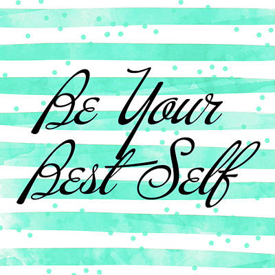 Self Mixed Media - Be Your Best Self by South Social Studio