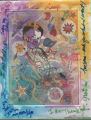 Mixed Media - Be Your Own Star by Phyllis Anne Taylor Pannet Art Studio