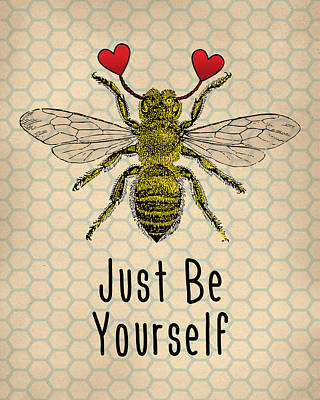 Be Yourself Cute Quotation Art Print