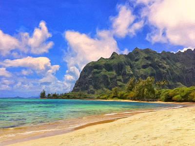 Kahana Painting - Beach At Kahana Bay by Dominic Piperata