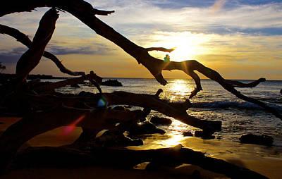 Beach 69 Hawaii At Sunset Art Print