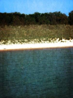 Lakes Photograph - Beach Abstract With Blue And Green by Michelle Calkins