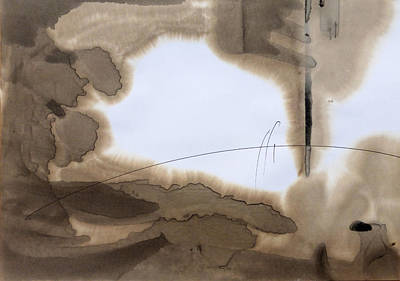 Beach Landscape Drawing - Beach Abstraction 12 by Mark Fearn