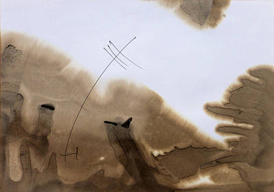 Beach Landscape Drawing - Beach Abstraction 13 by Mark Fearn