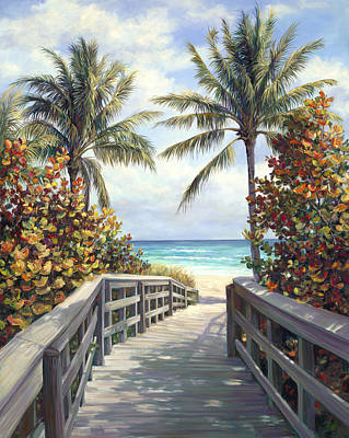Beach Access Art Print by Laurie Hein