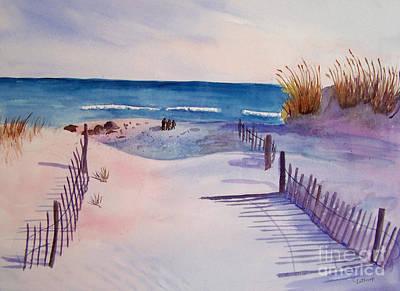 Beach Afternoon Art Print by Christine Lathrop
