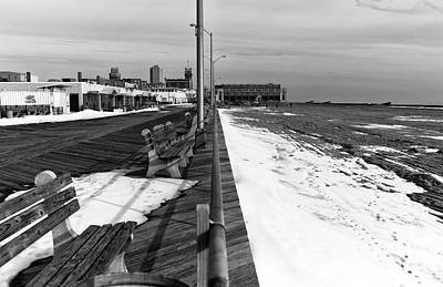 Photograph - Beach And Boardwalk Mono by John Rizzuto